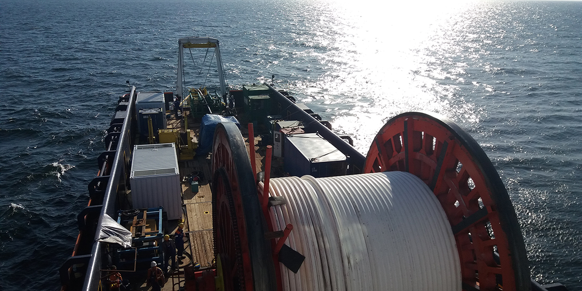 Coiled pipelay Cortez Subsea